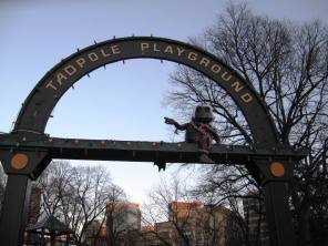 arch above playground entrance