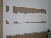 Layers peeled from drywall, landscape inspired by sculpture park setting