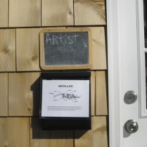 cricket diagram and information on mailbox of Home Depot House