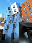 towers with protruding window bays, Stata Center plateau