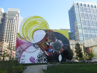 Mural soon after completion in September 2014