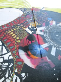 rendering of braided sculptural element added in mural design