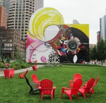 """""""a mural that extends beyond the wall, as it attunes to the space in which it sits, radiating energy outward to the rest of the city and its occupants. """""""