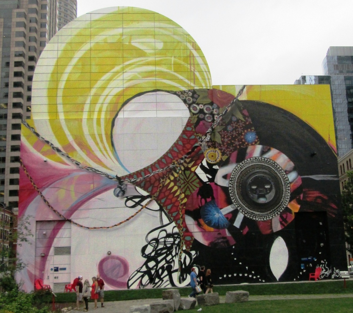 Seven moon junction mural shines with wisdom from the for Boston dewey square mural