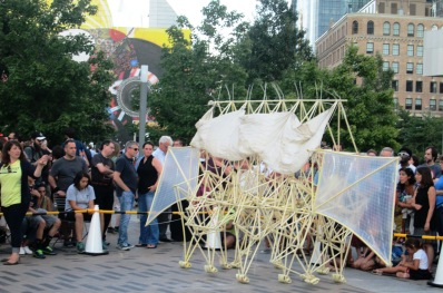 one of two strandbeests on Dewey Square