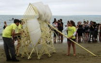 one of two Strandbeests on Crane Beach