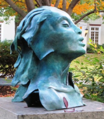 """Presence"" bronze sculpture by Mary Frank"
