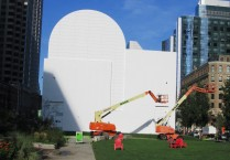 preparation for new mural Dewey Square, Sept. 2015