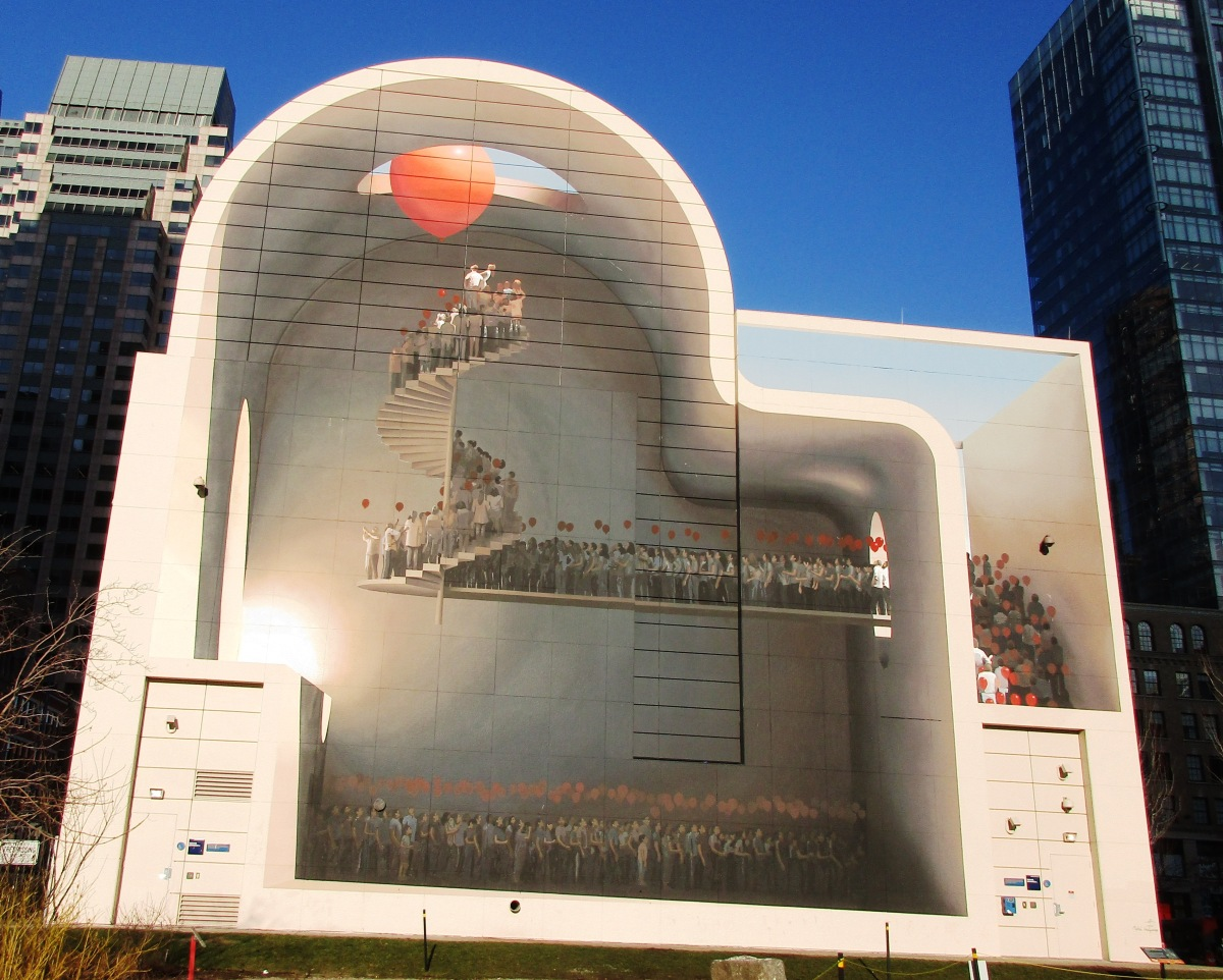 A welcome wall mural by mehdi ghadyanloo on greenway now for Boston dewey square mural