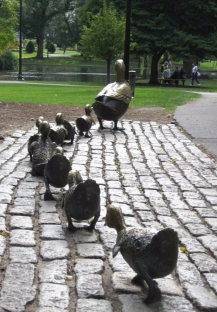 Make Way for Ducklings, late May 2010 Boston Public Garden