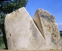 Erased Presence, 2000 Chauvigny Stone 50 x 79 x 10 in (128 x 202 x 27 cm)