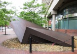 As you walk around the sculpture, its shape changes markedly, and you may find that it evokes other associations.