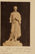 Photo of the plaster version of the statue from the artist's scrapbook.