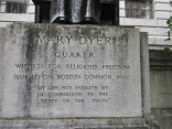 Base below the feet of Mary Dyer