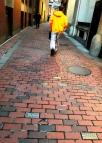 This exemplification of Boston's characteristically skewed streetscape, narrow throughways and one-way passages is a quaint walk-through for pedestrians strolling through the heart of the Financial District.