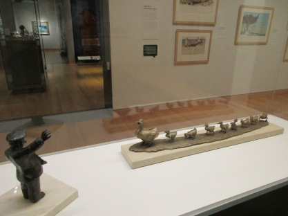 Maquettes of Officer Michael and Mrs. Mallard with Ducklings
