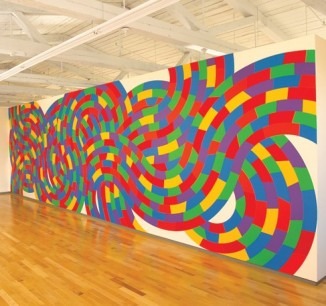 Wall Drawing 1152 Whirls and Twirls. (Met) April 2005 Acrylic paint LeWitt Collection, Chester, Connecticut