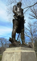 Boston-area Polish organizations commissioned this bronze statue by local sculptor Theo Alice Ruggles Kitson to memorialize the 150th anniversary of Kosciuszko's enlistment in the Continental Army.