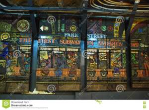 she made in 1978, depicting the history of the Boston subway system...""