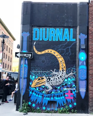 visit to Diurnal Gecko mural, June 2018
