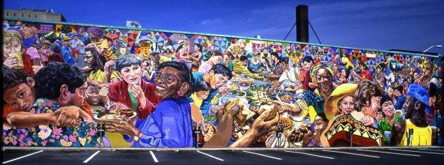 """Potluck"" from David Fichter mural portfolio"