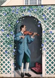 Musician in Davenport Street mural