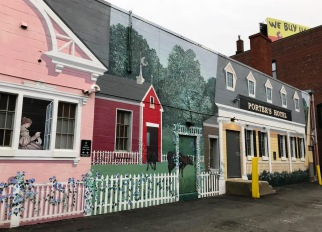 Davenport Street During the 19th Century, designed and painted by Joshua Winer with assistants, 2000