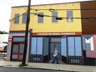 part of Saginaw Avenue mural
