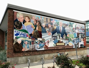 """""""All Politics is Local: The Tip O'Neill Story"""" mural"""