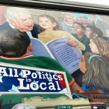 All Politics is Local sign and family tribute