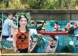 Each year, professional muralist David Fichter and an environmental educator work with organizations, naturalists, and local historians ....