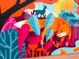 """Fox"" mural by James Weinberg"